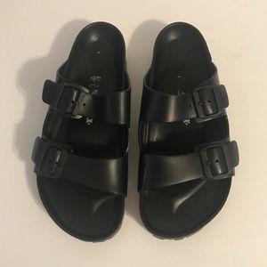 Birkenstock Mens Eva Rubber Slides Black 43